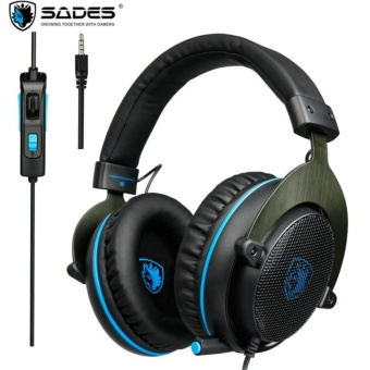 SADES R3 Over Ear 3.5mm Gaming Headphones Stereo Game Headset with Mic Bass Volume Control