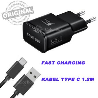 Samsung Charger Samsung Original Charger Samsung Galaxy S8 /(Samsung S8 Plus) Samsung S8+ / (Charger Samsung Original FastCharging) [Support Adaptive Fast Charging] + Cable Samsung Type CFast Charging Original - Hitam