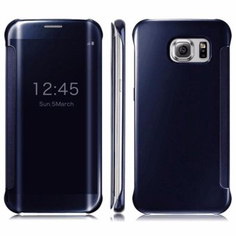 Samsung Clear View Cover Galaxy S7 Edge - Original - Hitam