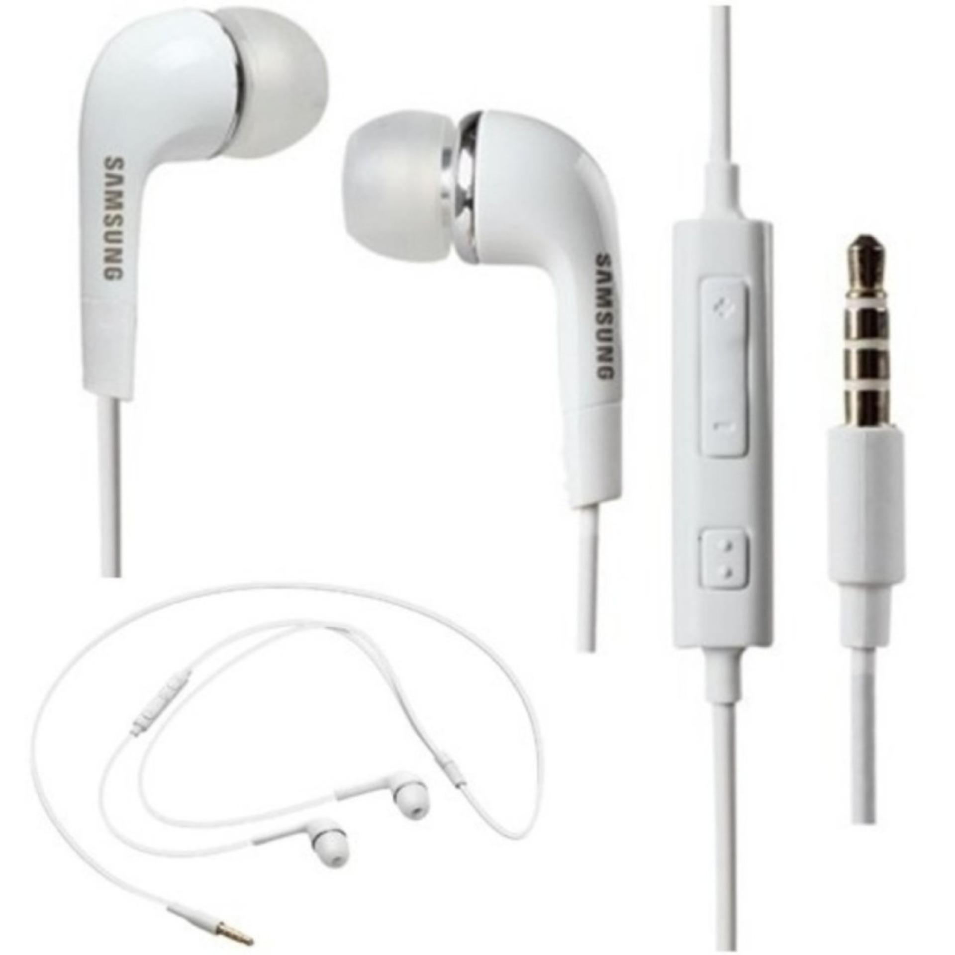 Eshop Checker Samsung Earphone Headset Handsfree Stereo S4 Putih I9220 With Control Talk