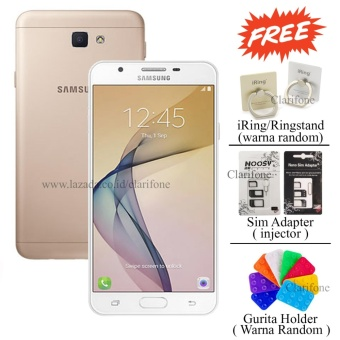 Samsung Galaxy J7 Prime - Layar 5.5 inch - Fingerprint - 32GB - White Gold