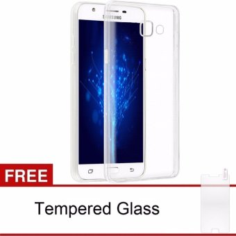 Samsung Galaxy J7 Prime / ON7 (2016) Case Ultra Thin TPU Softcase(Clear) FREE Tempered Glass