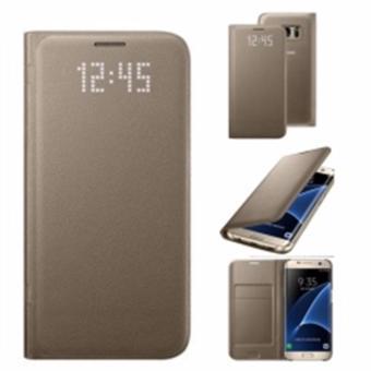 Samsung Original Clear View Cover Samsung Galaxy S7 Edge Gold ... dd7e09f8037a