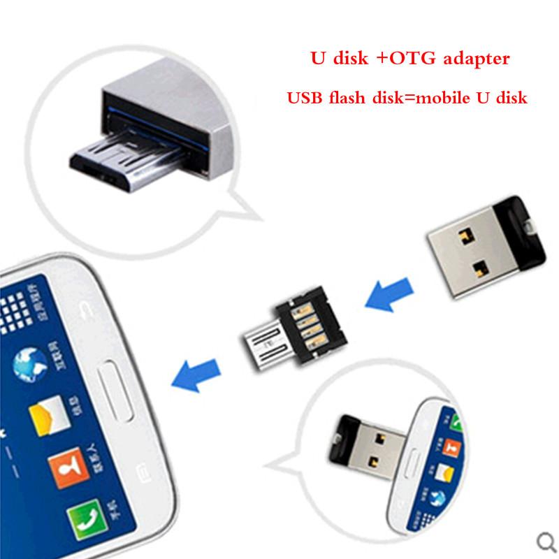 SanDisk CZ33 USB 2.0 Pen Drives 32GB mini USB flash drive + OTGadapter OTG function Turn ...