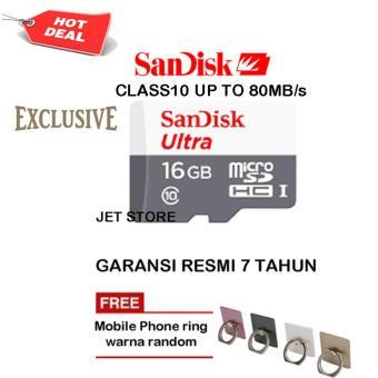 Sandisk Memory Card Ultra MicroSDHC class10 80MB/s - 16GB + iRing Mobile Phone