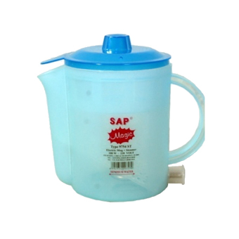 SAP Electric Mug With Steamer 9754 ST Biru