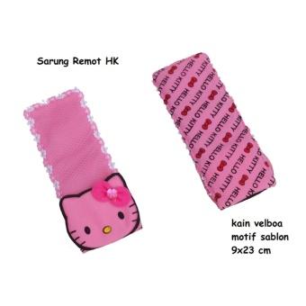 Sarung Remot TV Motif Sablon Pink Karakter