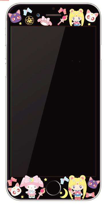 Se iphone6/8plus kartun tepi transparan layar penuh filter warna pelindung layar pelindung layar pelindung