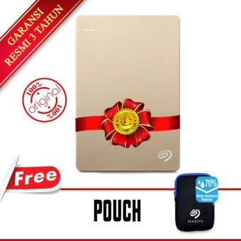 harga Seagate Backup Plus Slim 1TB 2.5 USB 3.0 - Gold + Gratis Pouch Lazada.co.id