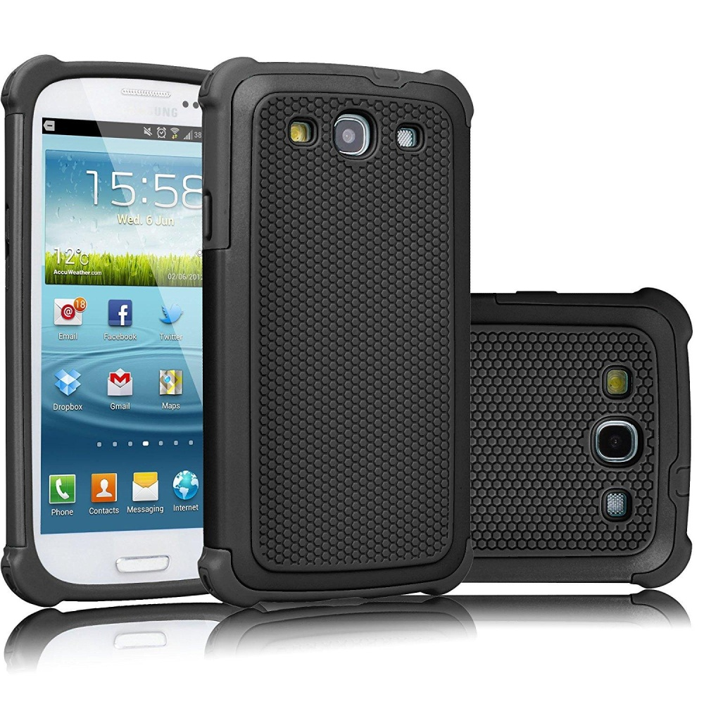 ... Shock Absorbing Hybrid Rubber Plastic Impact Defender Rugged SlimHard Case Cover Shell for Samsung Galaxy S3 ...