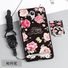 Silica Gel Soft Phone Case for VIVO Y28 with a Rope and a Ring (Multicolor