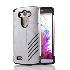 Silicon + PC Combo Case for LG G3 (Silver)