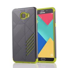 Silicon + PC Combo Case for Samsung Galaxy A9 (Grey+Green)