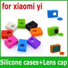 Silicon Soft protect Rubber Karet Case Cover Skin Lens Cap Xiaomi Yi