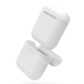 Silicone Shock Proof Protective Case Sleeve Skin Cover for AppleAirPods True Wireless Headphone Charging Box -