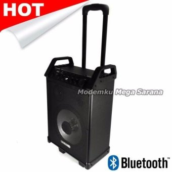 Simbadda CST 32 Portable Amplifier System - Bluetooth + WirelessMicrophone - Hitam