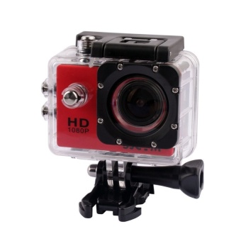 SJCAM Original SJ4000 30M Waterproof Sports DV 12MP 1080P Action Camera Waterproof Diving HD Camcorder(Red) - intl