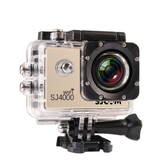SJCAM Original SJ4000 WiFi Version Full HD 1080P 12MP Action Camera 30m Waterproof Sports DV Gold - intl