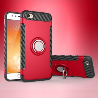 Slim Fit Dual Layer Hybrid Armor Shock Absorption Rugged Defender dengan Ring Holder Kickstand DROP Protection