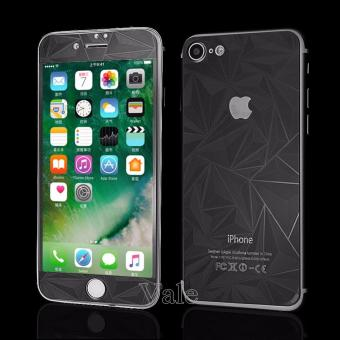 Sloof Tempered Glass Mirror 3D Diamond Front & Back iPhone 7Plus / 7S Plus - Hitam