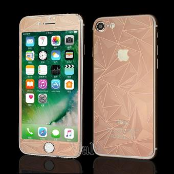 Sloof Tempered Glass Mirror 3D Diamond Front & Back iPhone 7Plus / 7S Plus - Pink Rose