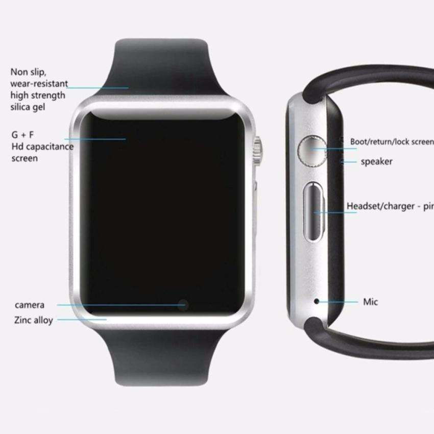 Jam pintar jam tangan Bluetooth untuk IOS Android dukungan telepon disebut TF kartu SIM SMS GPRS