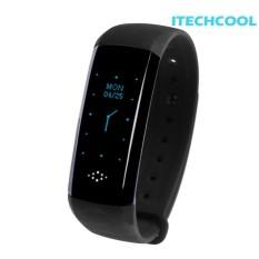 Smart Bracelet Fitness Tracker Blood Pressure Pedometer Watch - intl