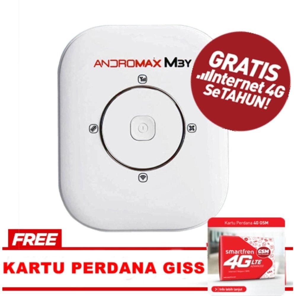 Smartfren Modem MiFi Mobile Andromax M3Y Free Perdana - Putih