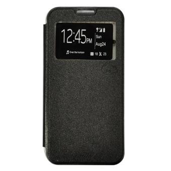 Smile Flip Cover Samsung Galaxy J3 2016 (J320) - Hitam