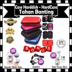 Sofcase Harddisk Hard Case Shockproof Tas Hardisk / Powerbank Tahan Banting for External HDD 2.5 inch Pouch Bag - Red GRATIS Popsocket Mobile Phone + Handsfree & Kabel Charger Micro Android