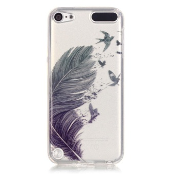 ... digital painting wolf head 179252123 cover for. Source · Soft IMD TPU Cover for iPod Touch 6 Touch 5 Feather Pattern intl .