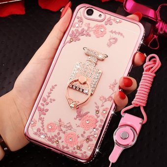 Soft Phonecase Fashion Phone Case Phone Cover Casing For OPPO F1S With Ring Holder - intl
