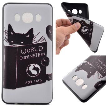 Soft TPU Cover Case for Samsung Galaxy J5 (2016) - World Domination for Cats - intl