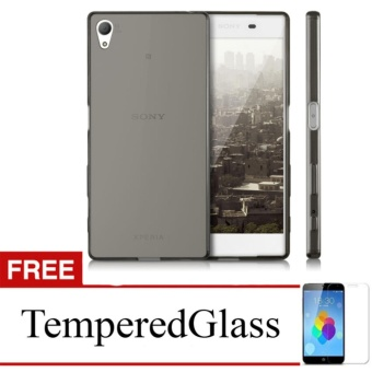 Softcase for Sony Xperia Z4 - Abu-abu + Gratis Tempered Glass - Ultra Thin
