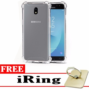 Softcase Silicon Anti Shock / Anti Crack Elegant Softcase  for Samsung Galaxy J5 Pro - White Clear + Free iRing