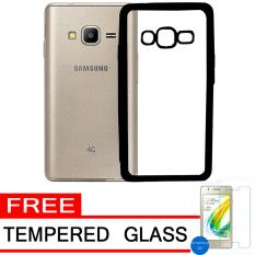 Softcase Silicon Jelly Case List Shining Chrome for Samsung Z2 -Black + Free Tempered Glass