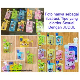 Softcase/Case BONEKA 3D INTIP Karakter VIVO Y53 Free Tempered Glass Motif Senada Case (RANDOM) - ABS