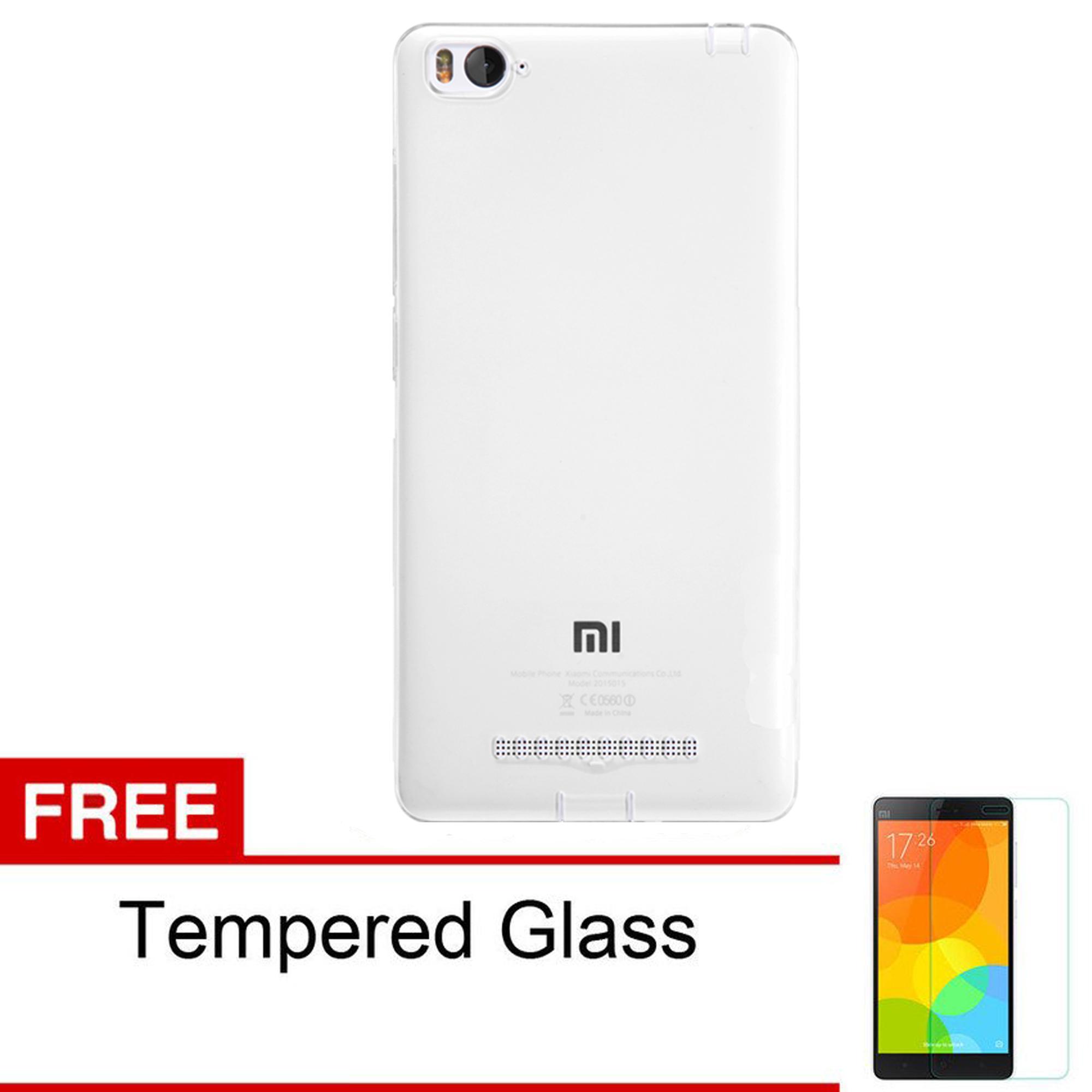 Softjacket Xiaomi Mi4i / Xiaomi Mi4c Ultrathin Fit 0.3mm - Clear + Tempered Glass