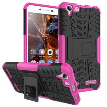 Solid PC + TPU Hybrid Case Cover with Kickstand for Lenovo Vibe K5 Plus / Vibe K5 (Rose) - intl