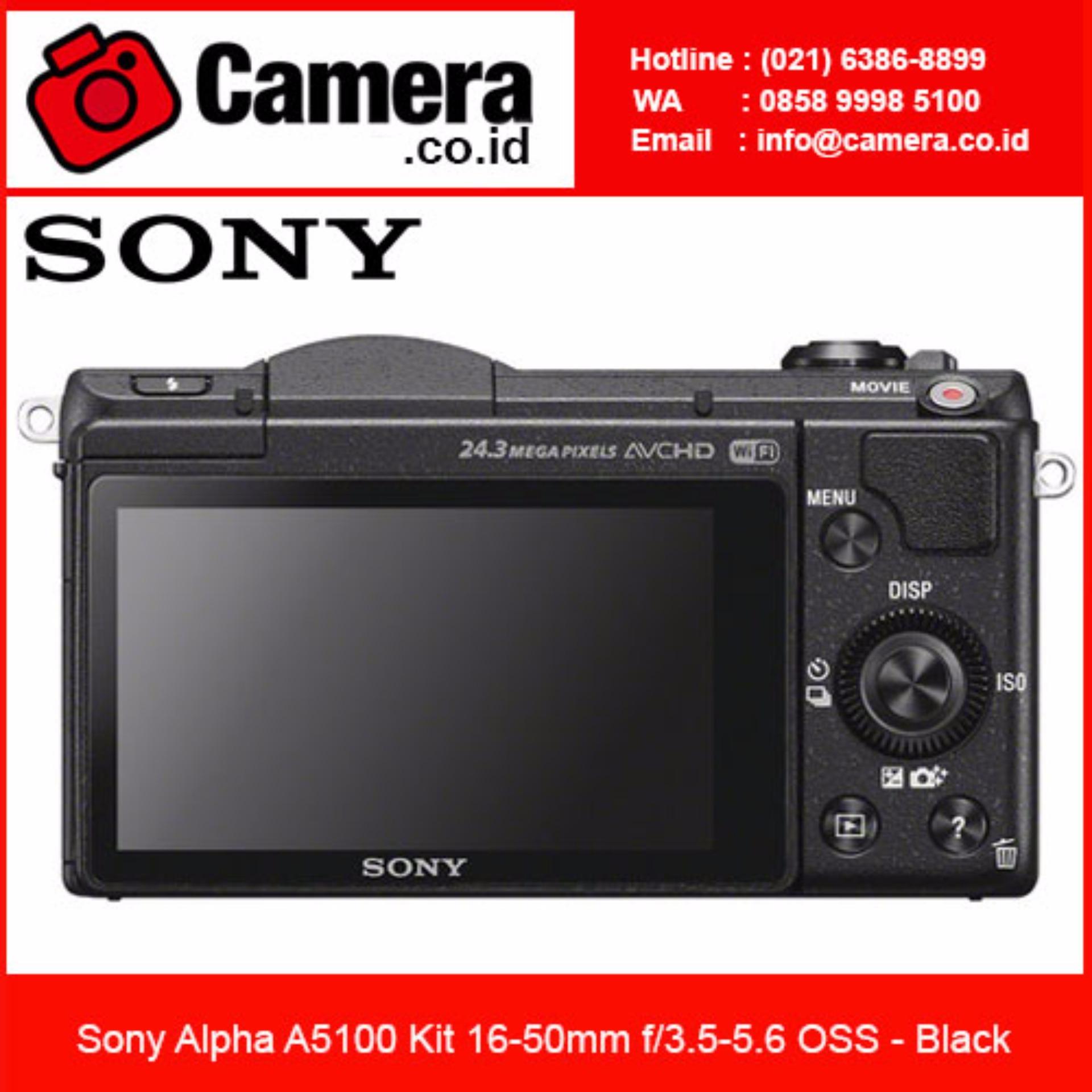 Harga Penawaran Sony Alpha A5100 Kit 16 50mm Black Free 8gb Kamera Mirrorless