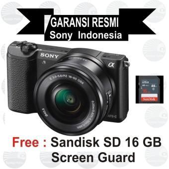 Sony ILCE Alpha A5100L E PZ 16-50mm f/3.5-5.6 OSS - Black Mirrorless
