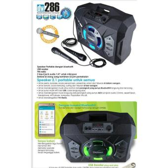 Speaker Aktif Portable - Bluetooth Karaoke Radio And USB - Dazumba DW 286