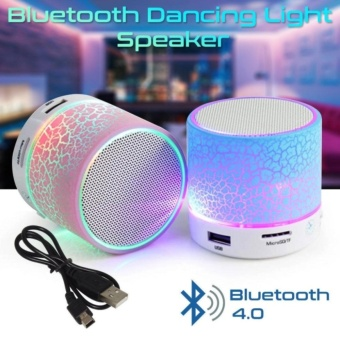 Speaker LED MINI Portable Wireless Bluetooth Speaker TF USB - Random