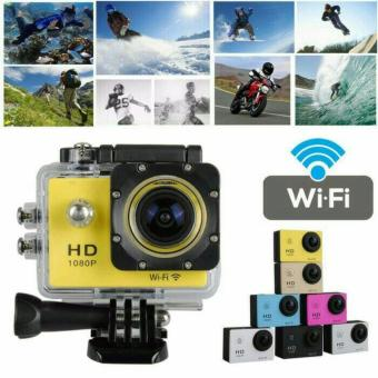 Sports Cam Action Camera WiFi Go-Pro 1080p Ultra HD DV Waterproof - Black