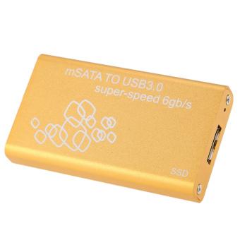 SSD mSATA untuk USB 3.0 Hard Drive lampiran adaptor wadah dukungan UASP Super kecepatan 6 GB/s - Internasional