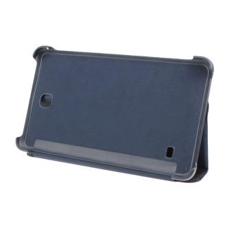 Stan kulit penutup untuk Samsung Galaxy Tab 4 7 inci tablet SM-T230SM-T231 + film pena pening Biru
