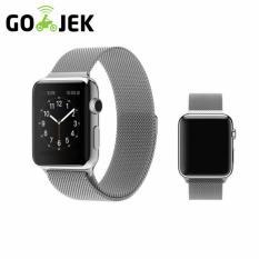 Strap Apple Magnet - Strap Jam Tangan Apple Watch - Stainless Steel - Unisex - Sporty - Series 1 & 2 [ 38mm ]