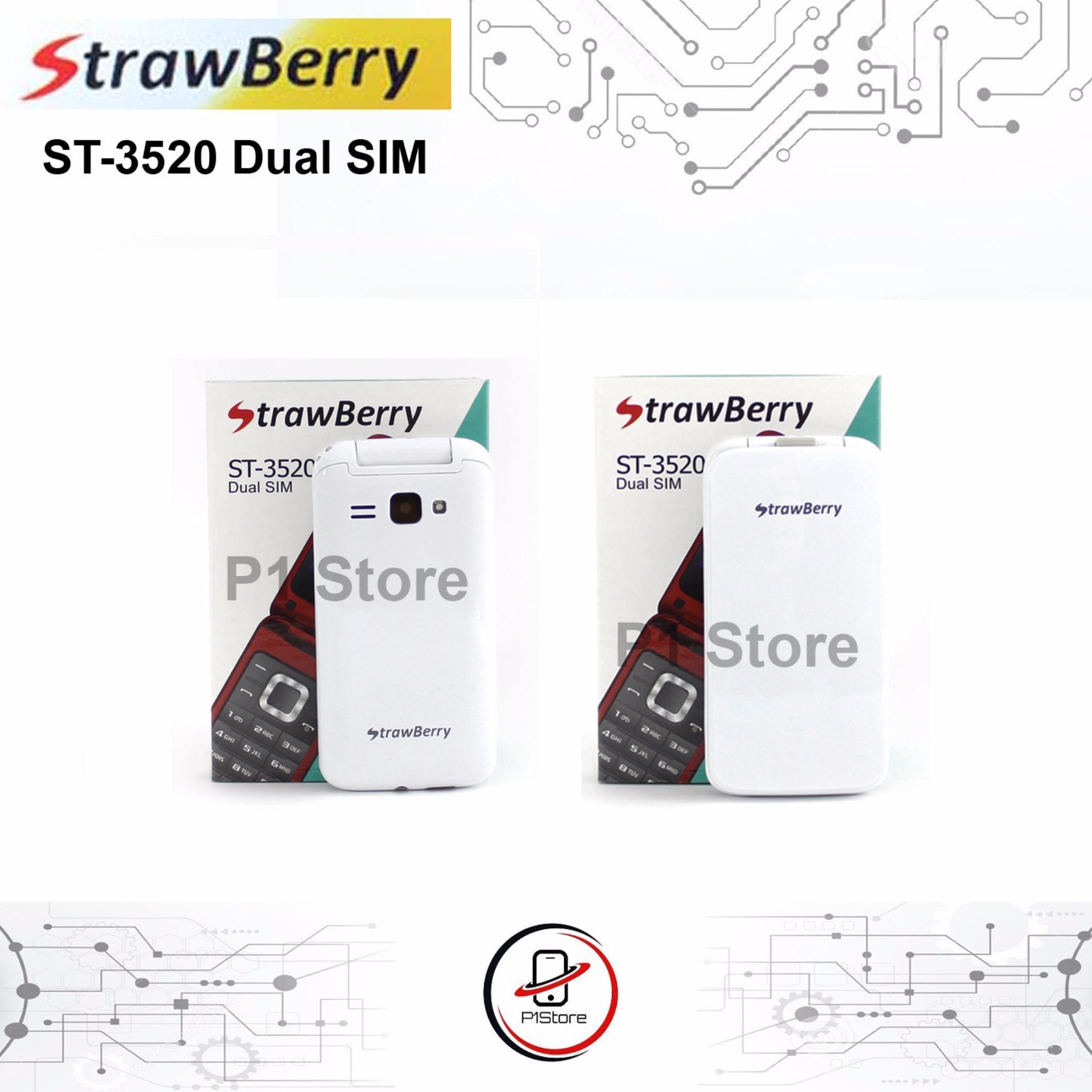 Strawberry ST3520 Flip Handphone - Camera - Dual SIM - Garansi 1 tahun ...