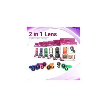 Superwide 2In1 Lens (Superwide + Fisheye) Jepit Panjang Dus Ungu U004x