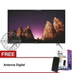TCL 32 inch LED SMART TV - Hitam (Model: L32S4900) + GratisAntennaDigital